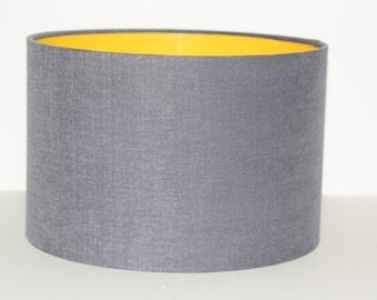Grey Drum Lampshade/ modern lampshade/ ceiling lampshade/ table lamp.