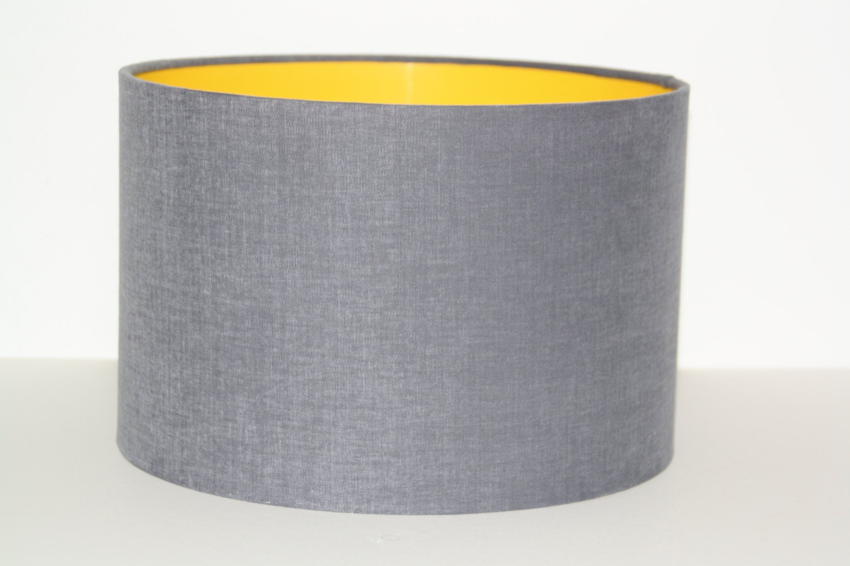 Grey Drum Lampshade Modern Lampshade By Lampshadedesignstudi