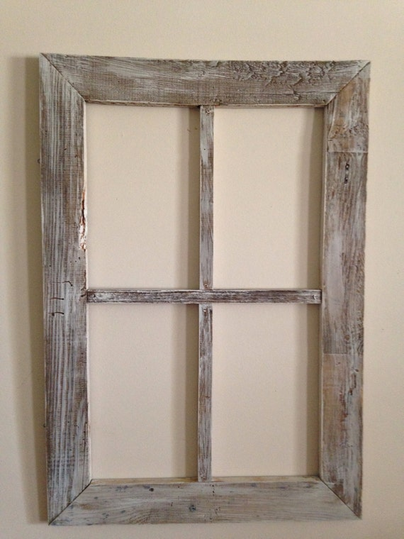 Old weathered wood 4 panel window for Window design 4 by 4