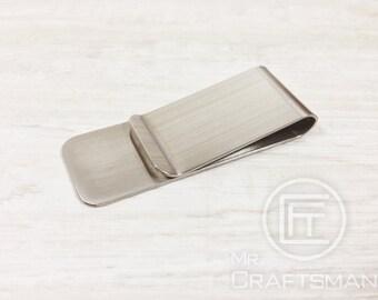 Men's Stainless Steel Money Clip Silver color (1pcs)