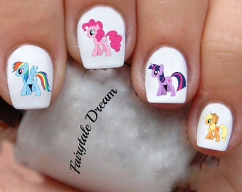K1203 My Little Pony KIDS 20 Water Slide Nail Art Transfer Decals stickers