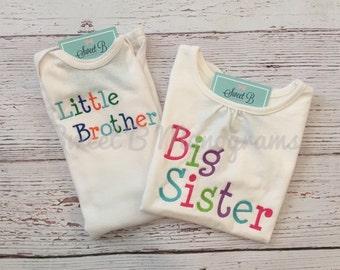 Big Sister/ Little Brother Sibling Set