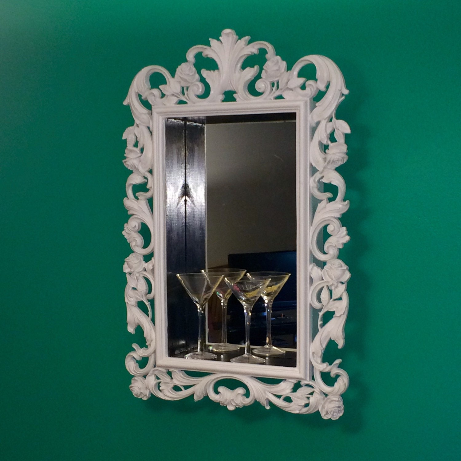 Victorian mirror with box shelf for Mirrored box shelves