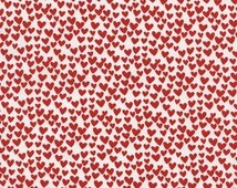Heart Fabric - Red Hearts by Timeless Treasures - 1/2 Yard
