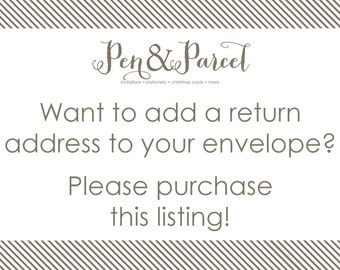 Return address printing add-on option