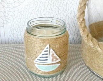 Little Sail Boat Jar Candle
