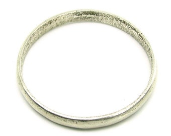 Real Silver Kids Bangle Bracelet Single - Pre-owned