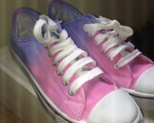 Women's Hand Dyed Pumps Pink & Blue Size 6 ***SALE*** NOW  18.00 Normally 20.50