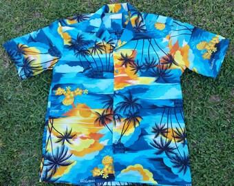 Vintage Hawaiian sunset Hawaiian shirt
