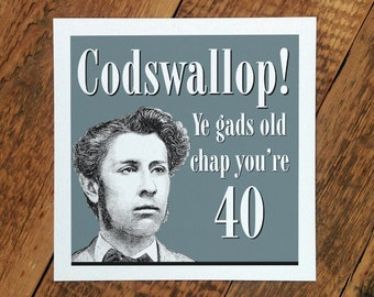 40th Birthday Card; 40; 40th Card For Men; You're 40; The Big 40 Card; Card For Him; GC087