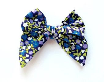 Tiny Flower Pansy Mini Sailor Bow