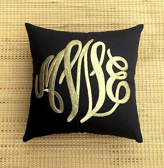 Decorative Pillows With Monogram : 30%OFF Monogram Pillow Decorative Throw Pillow Personalized