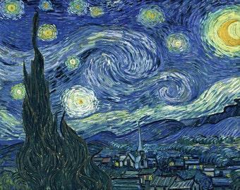 Vincent Van Gogh: Starry Night. Fine Art Print/Poster.
