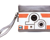 The Droid You're Looking For Clutch Bag With Wristlet | Star Wars BB-8 Inspired Purse | Geek Chic