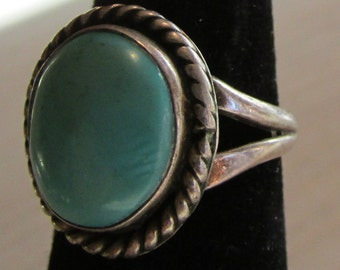 Sterling Silver and Turquoise Ring Size 4