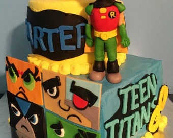 Teen Titans Go! Fondant cake set - see pictures for girl option