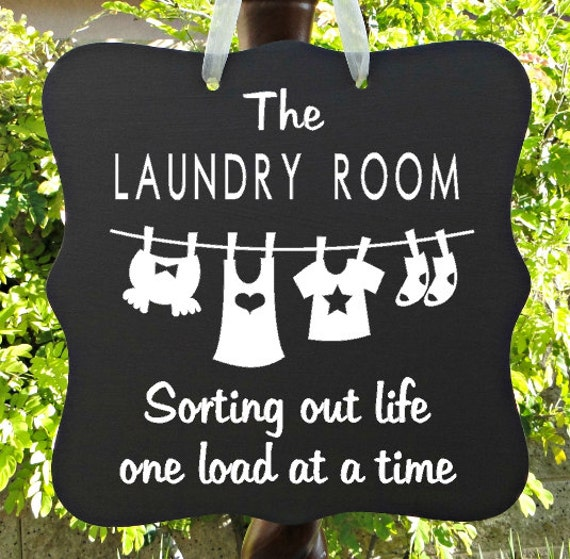 The Laundry Room Sign - Sorting Out Life One Load At A Time, Home Decor, Laundry Decor, Wall Art, Custom Wooden Sign