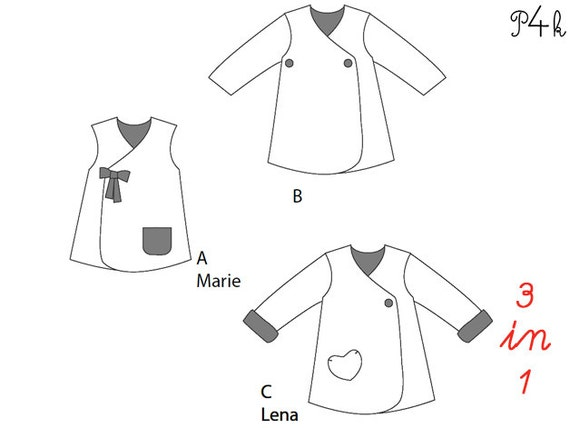 pattern4kids - Girls pinafore dress pattern, baby dress pattern ...