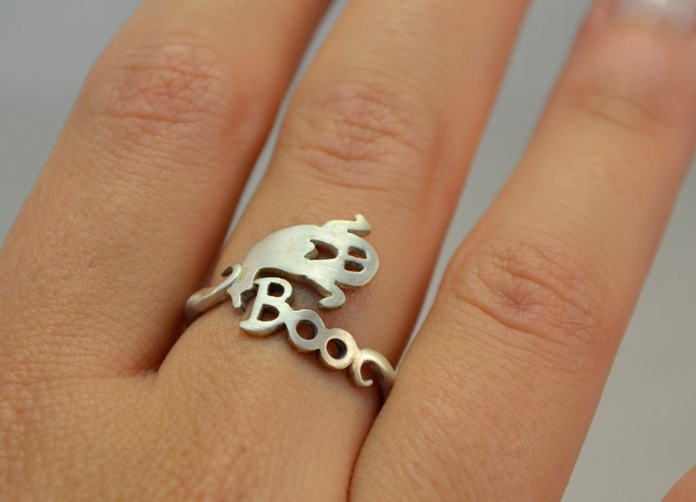 BOO Wrap Ring Halloween Jewelry Ghost Ring Gift For Halloween