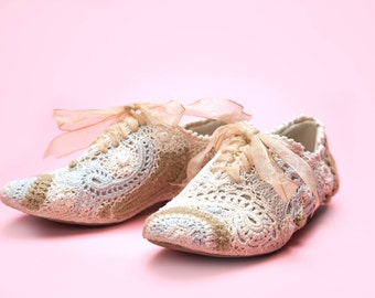 Crazy About Paisley  Downtown Abby Crochet Shoes