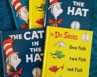 COVER ONLY!** The Cat in the Hat, One Fish, Two Fish...Dr. Seuss... empty book cover for projects...crafts...children's book covers