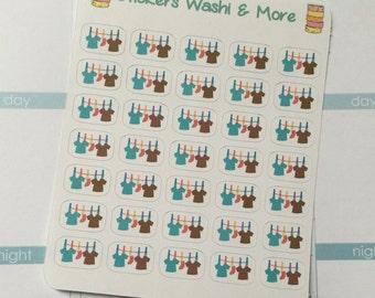 Clothesline Laundry stickers for Erin Condren Life Planner Filofax Gillio