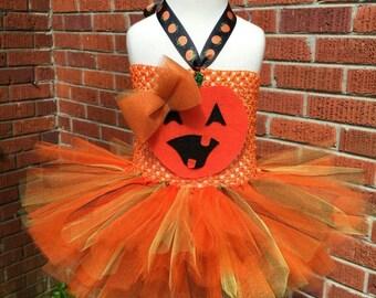 Pumpkin costume - Newborn costume - baby pumpkin tutu - Pumpkin Dress - infant pumpkin dress- pumpkin Halloween costume - pumpkin tutu