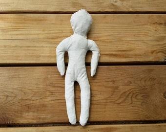 Handmade Poppet doll for healing rituals, hexing spells, voodoo ritual, hoodoo magic, sympathetic magic, dark moon magic, pagan ritual doll