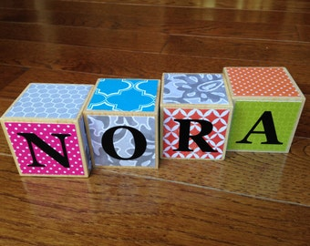 Personalized Baby Name Blocks