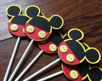 Mickey Mouse Cupcake Toppers