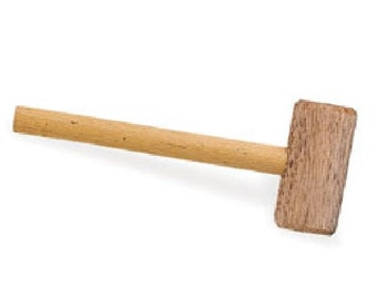 "Wooden Mallet 9"" handle with 1 1/2"" (1.3 cm) x 4"" head 3446-00"