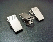 5 Pcs Silver Tone Color 30 X 14  mm Metal ID Holder Clasps