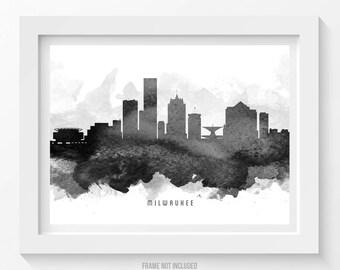 Milwaukee Wisconsin Skyline Poster Milwaukee Art Milwaukee Cityscape Milwaukee Decor Home Decor