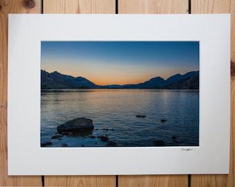 Skaha Lake at sunset, Okanagan Falls, British Columbia, Canada