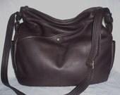 Leather Crossbody large Hobo #573