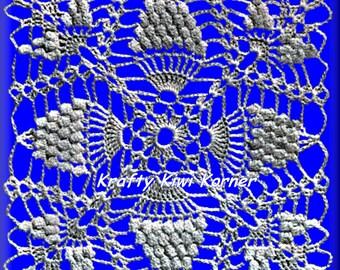Crochet Vintage Pineapple Stitch Patterns; 5 Patterns for 3 dollars.