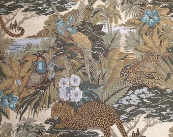 Exotic - Tropical - Animals -Upholstery Fabric  By The Yard - Home Decor