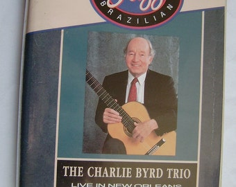 1991 The CHARLIE BYRD TRIO Live In New Orleans All That Jazz Brazilian Pal Vhs Video Rare Music