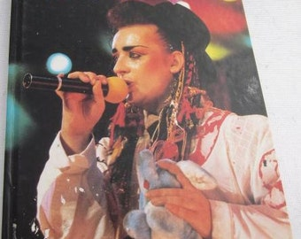 1984 BOY GEORGE & Culture Club Hardcover Book Vintage New Wave Music Book