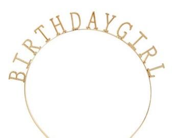 Birthday Girl - Headband - Gold