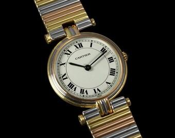 Cartier Vendome Ladies Trinity Watch - Solid 18K Gold