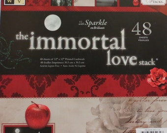 """Immortal Love 12""""x12"""" Premium Cardstock with Glitter by DCWV*Free Shipping*"""