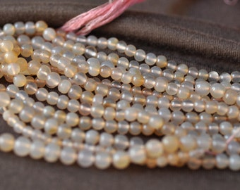"Pink Chalcedony Round Beads 5-6MM 16"" Strand"