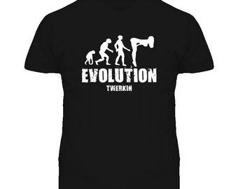 Funny Evolution Twerking Twerk T Shirt