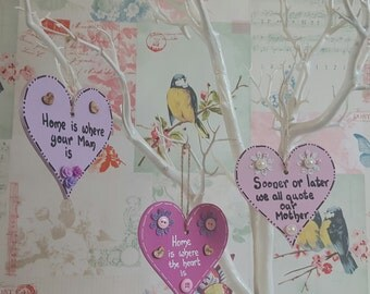 Small wooden heart plaques