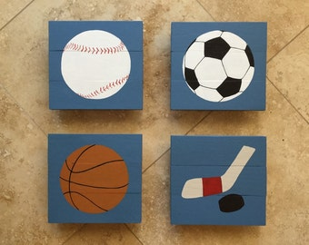 Sport balls wall hanging