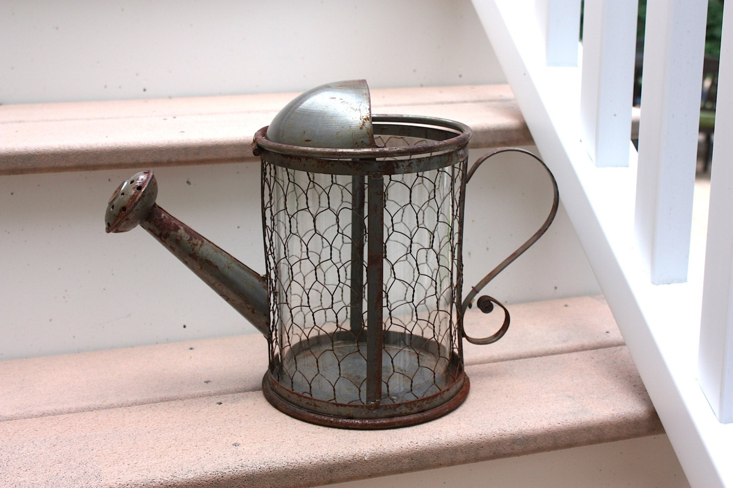 Vintage Decorative Metal Watering Can By Colemineantiques