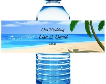 25 Wedding Water Bottle Labels - Wedding Water Labels - Custom Water Bottle Labels - Waterproof Water Bottle Labels - Monogram Labels