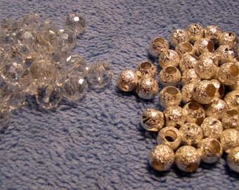 Beads crystal and metal