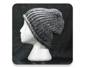 Knit Hat, Charcoal Gray Wool Blend, Men's Knit Hat, Women's Knit Hat, Knitted Hat, Mens Hat, Womens Hat, (WB7)